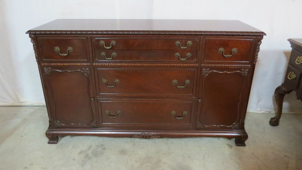 Chippendale Sideboard Buffet Dining Room Set Mahogany Home