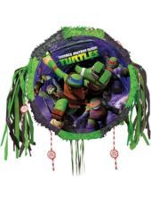 Pull String Teenage Mutant Ninja Turtles Pinata 18in - Party City