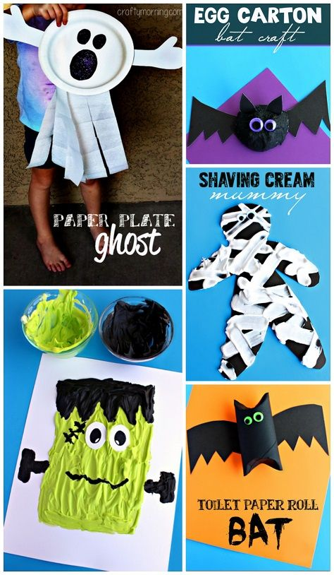 Fun and easy Halloween crafts for kids to make! (Frankenstein - easy homemade halloween decorations for kids