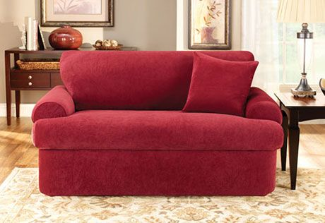 Sure Fit Slipcovers Stretch Pique Three Piece T Cushion Sofa T Cushion Loveseat Slipcovers Cushions On Sofa Slipcovered Sofa 3 piece t cushion sofa slipcover
