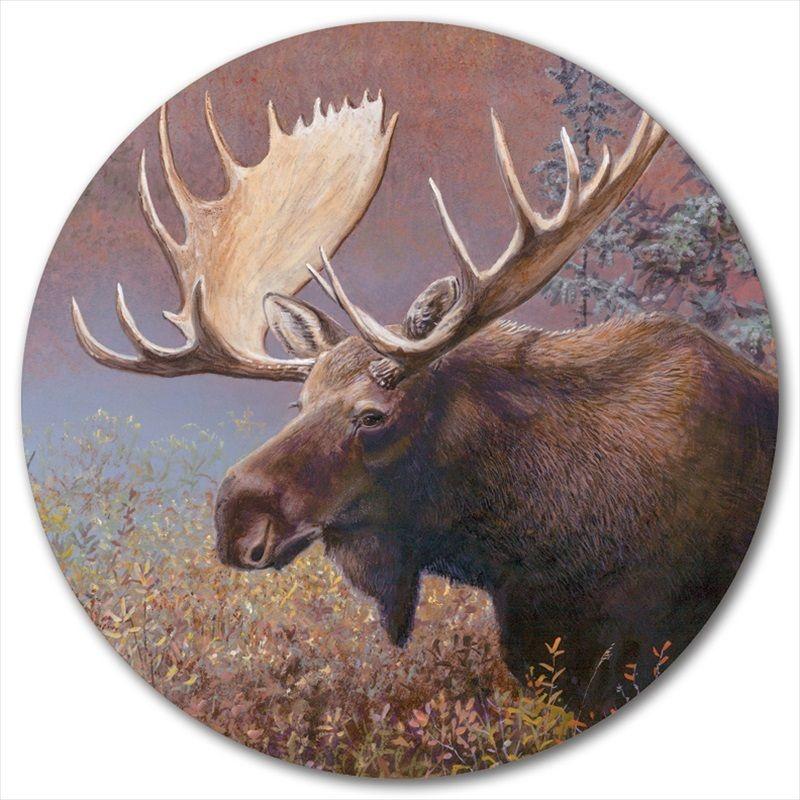 Moose Lazy Susan | Chocolate Moose | Wood Graphixs