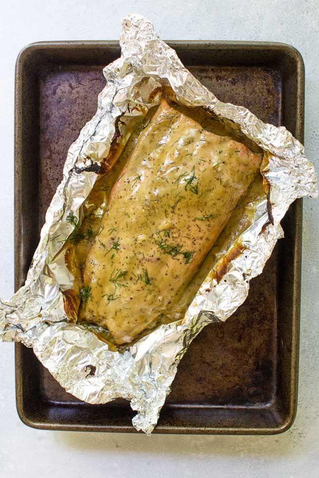 Honey Mustard Baked Salmon (20-Minute Dinner!)   Girl Gone Gourmet