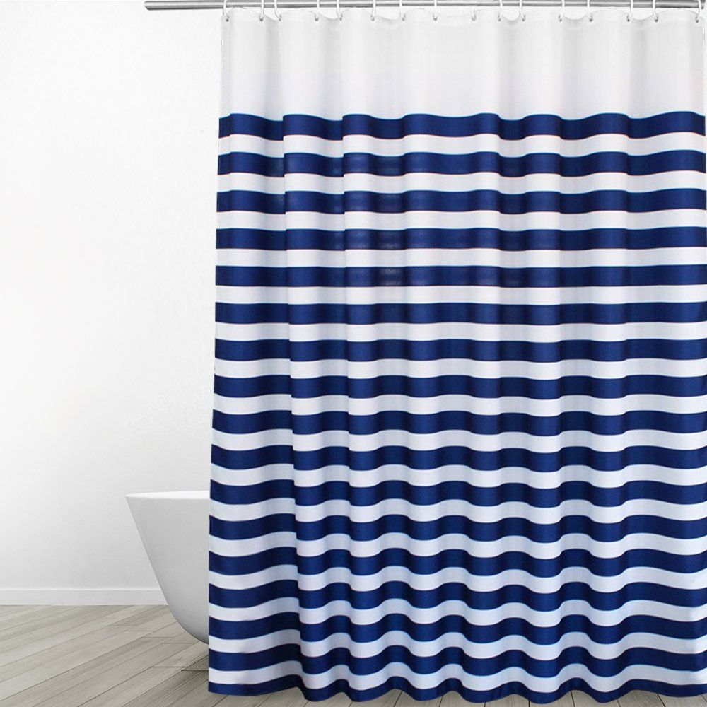 Eforgift Washable Soft Polyester Bathroom Curtain Water Repellent