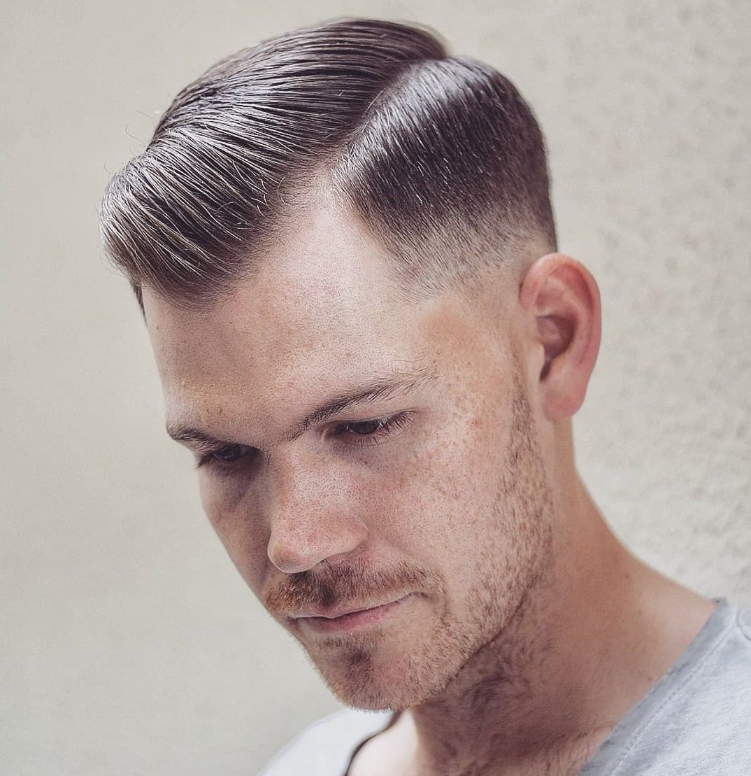 Men 039 S Hairstyle Receding Hairline With Bangs Haircuts For Balding Men Thin Hair Men Balding Mens Hairstyles