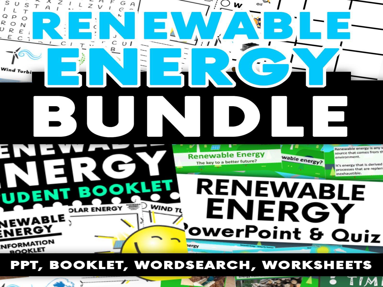 Renewable Energy Activity Bundle Ppt