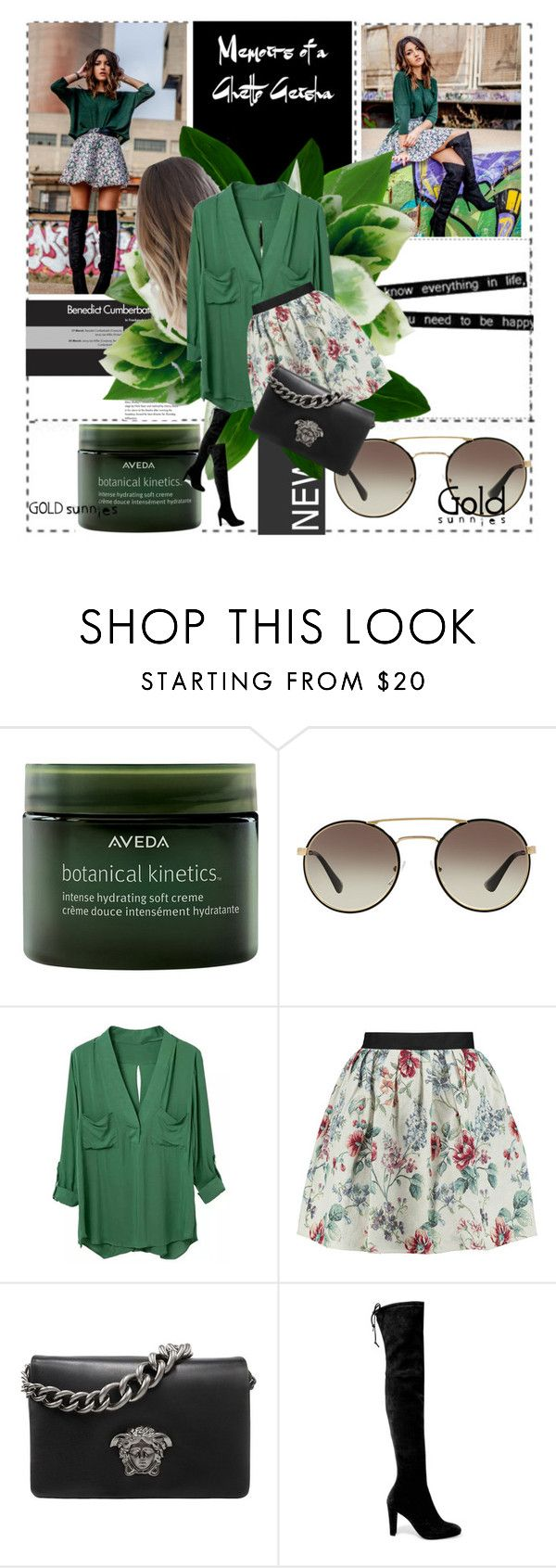 """""""Untitled #137"""" by doyougotabae17 ❤ liked on Polyvore featuring Lori's Shoes, Aveda, Prada, Raoul, Versace and Stuart Weitzman"""