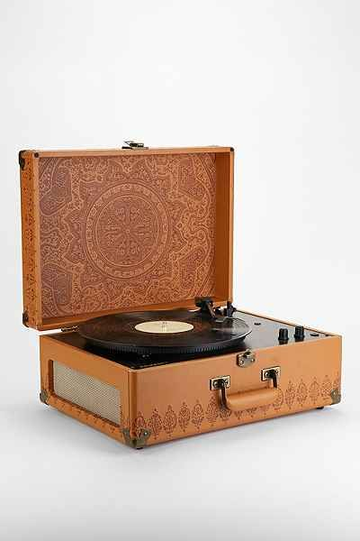 crosley x uo av room embossed portable usb vinyl record player urban outfitters boho gypsy. Black Bedroom Furniture Sets. Home Design Ideas