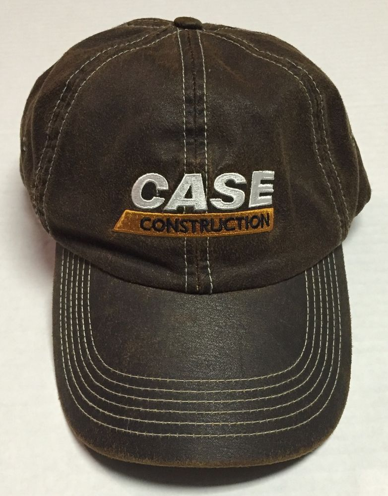 b8278615a Case Construction Hat One Size Heavy Equipment Distressed Brown ...
