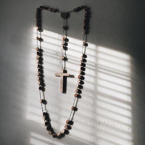 Photo By // Catholic Home Decor// Large Rosary Decor // Hanging Rosary Beads