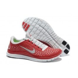 Nagelneu Nike Free 3.0 V4 Männerschuhe Rot Weiß Schuhe Günstig   Genial Nike  Free 3.0 V4