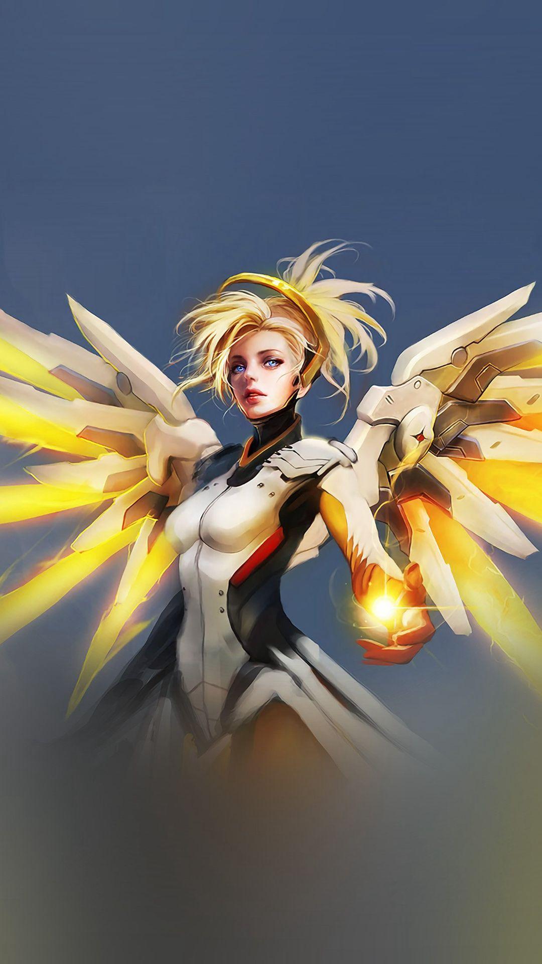 Overwatch Mercy Cute Game Art Illustration Angel iPhone 8