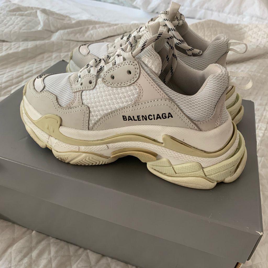 Balenciaga Shoes  Balenciaga Triple S Sneakers  White  Color White  Size 6 Source by theposhmarkapp balenciaga