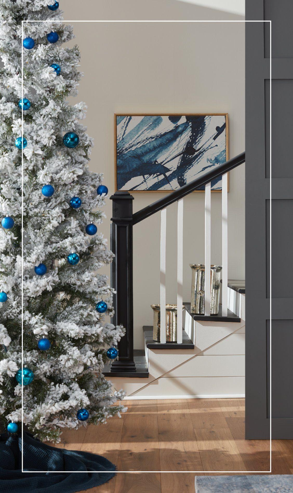 Shop Overstock And Save Big On The Christmas Tree Of Your Dreams With Beautiful Styl Traditional Christmas Decorations Christmas Staircase Decor Holiday Decor