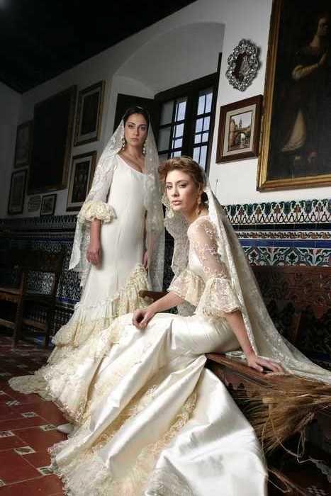 Vestidos novia corte flamenco