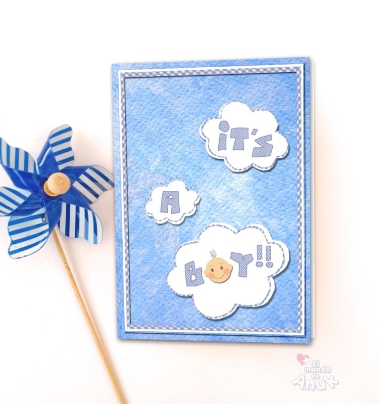 Baby Shower Gift, Newborn Baby Card, New Baby Boy Congrats Card