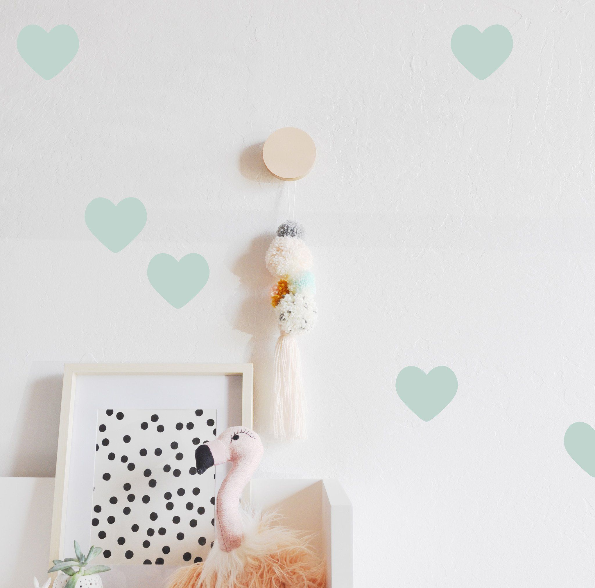 Hearts 3 Wall Decal Wall Stickers Room Wall Decals Wall Stickers
