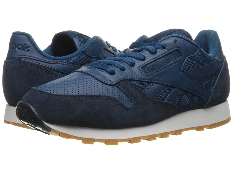 REEBOK REEBOK  CLASSIC LEATHER SPP NOBLE BLUECOLLEGIATE NAVYWHITEGUM  Classic LeatherMens ShoesShoes