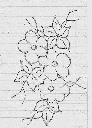 Flores Simples Jpg 362 500 Pixeles Artes Desenhos Desenho De