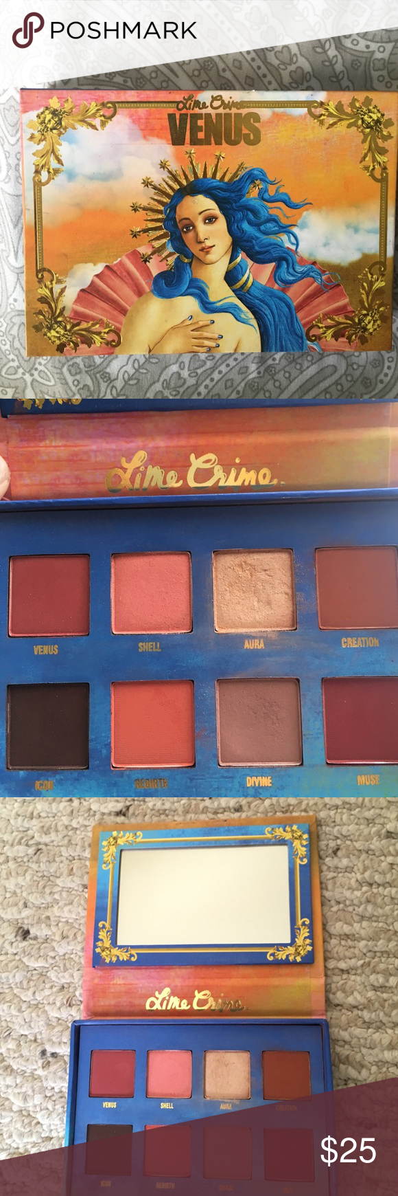 Lime Crime Venus The Grunge I This palette features