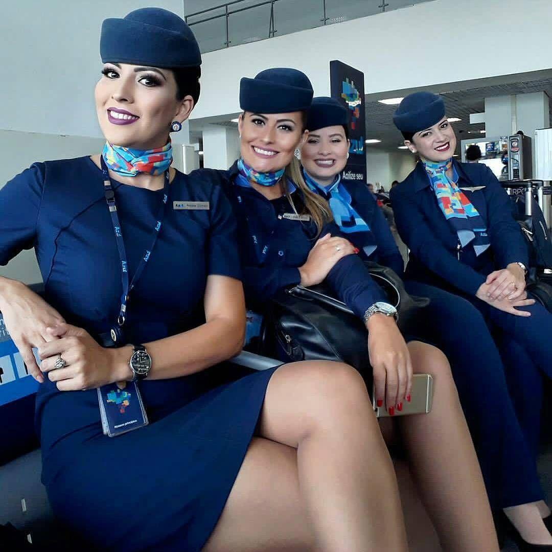 Stewardess night flight sex