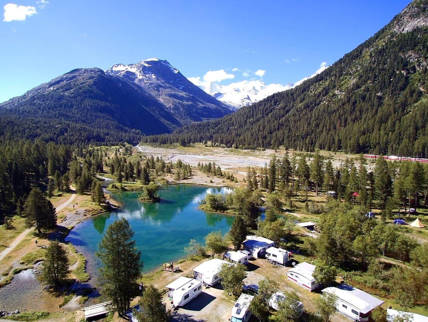 Wilde Campingplätze in der Schweiz Vom Engadin bis ins