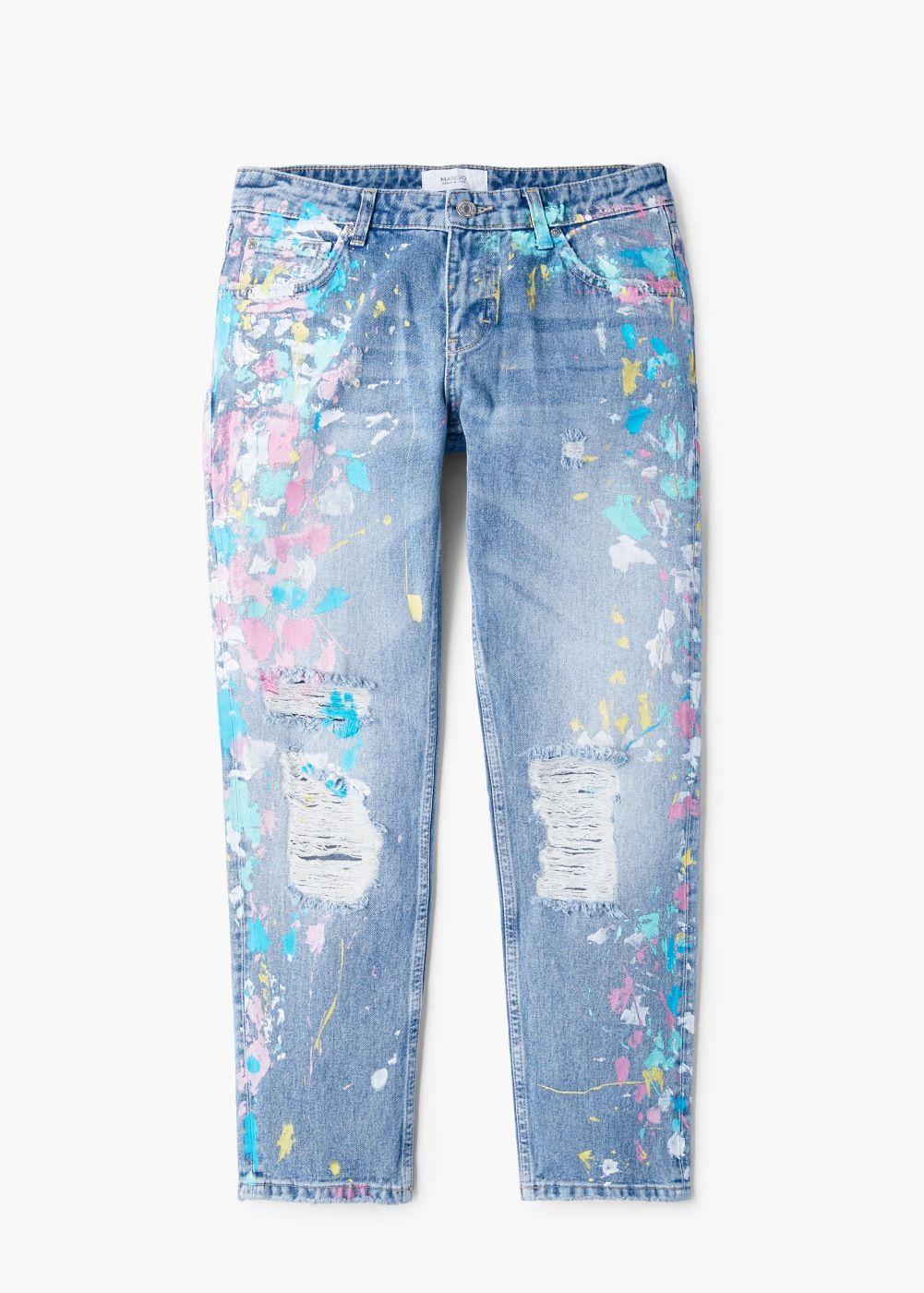 8070d75a113 Jeans relaxed crop - Mujer en 2019 | Cocinando Estilo | Distressed ...