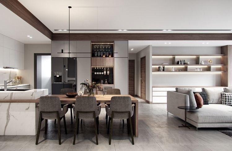 The K 울산 가벽 파티션 인테리어 공간의 분리와 변화를 한번에 네이버 블로그 아파트 디자인 럭셔리한 거실 인테리어