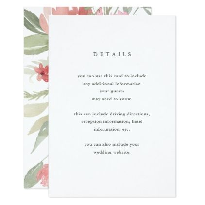 Minimalist bloom wedding guest details card wedding invitations minimalist bloom wedding guest details card wedding invitations cards custom invitation card design marriage stopboris Image collections