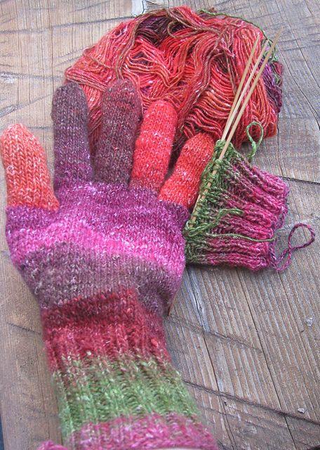 Knit Glove Pattern Knitting Pinterest Gloves Knit Patterns