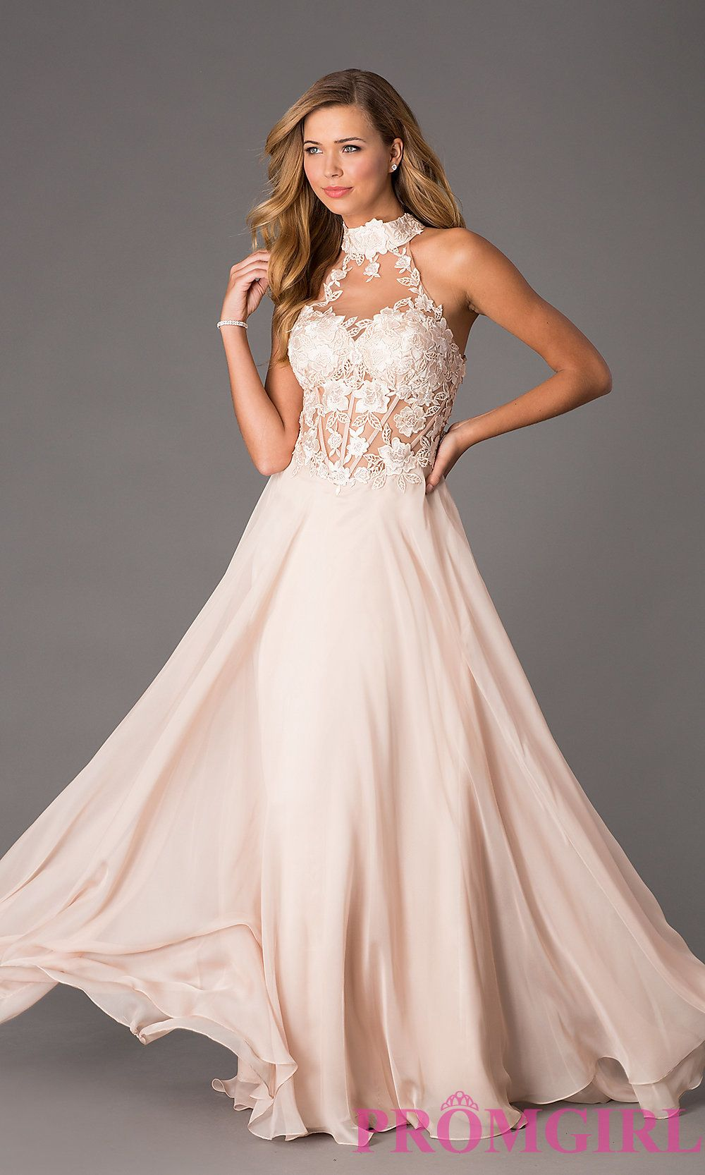Image of Dave and Johnny Corset Top High Neck Gown Style: DJ-1007 ...