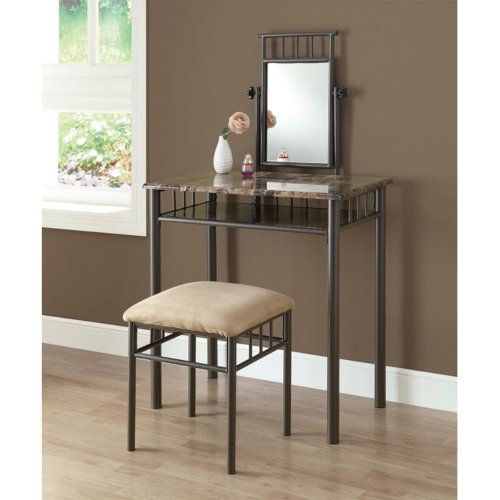 40 Off was $18699, now is $11133! Monarch Specialties Bronze - Bedroom Vanity Table