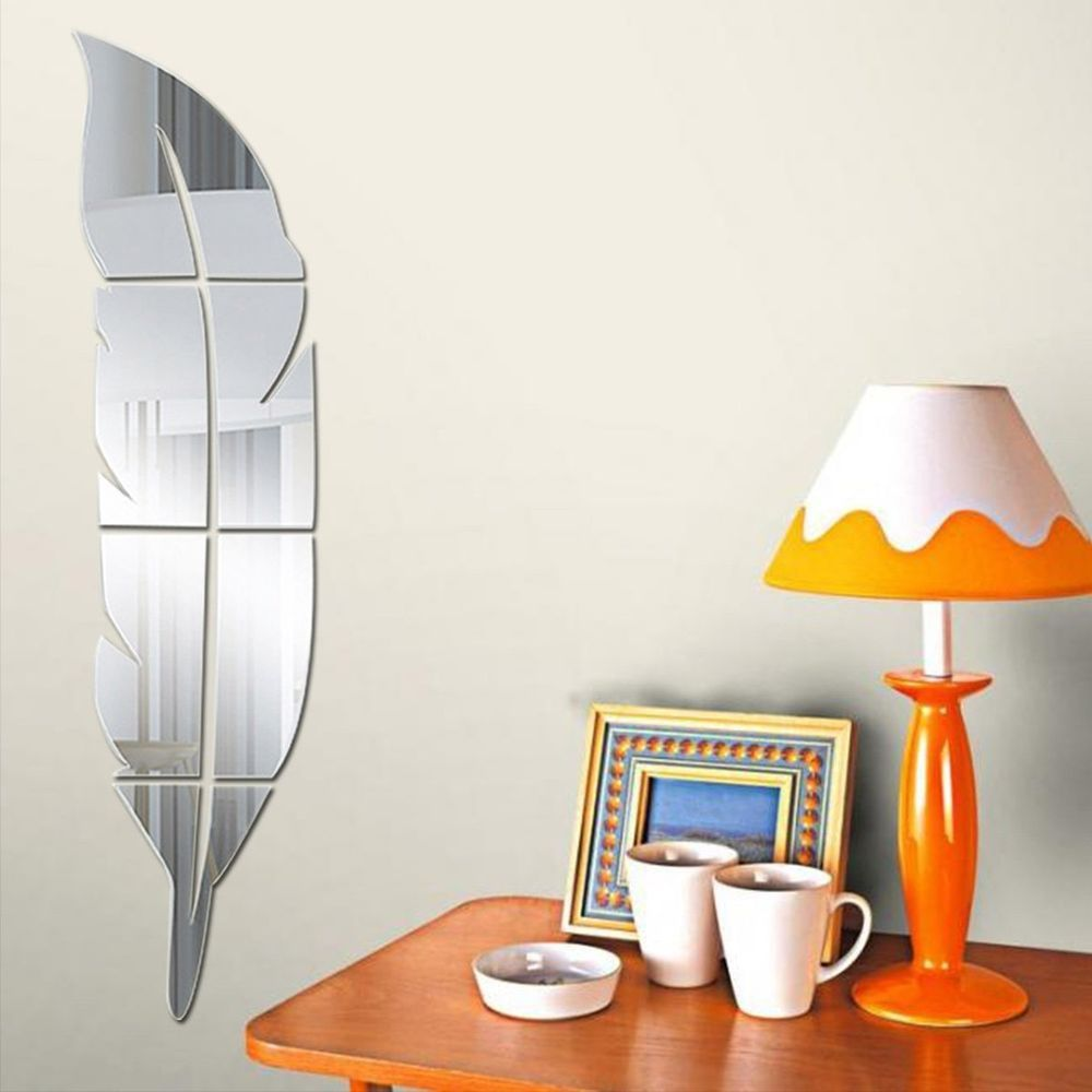 This elegant mirror sticker add a nice touch to your house decor