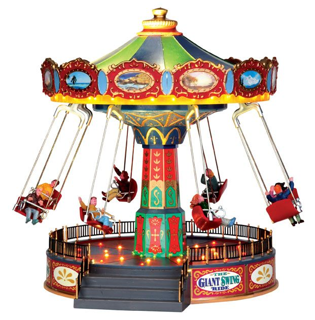 The Giant Swing Ride VILLAGE Pinterest Swings, Christmas - christmas carousel decoration