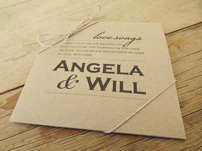 wedding stickers for invitations%0A     CD Custom Sleeves  u         CD Labels  Burlap Canvas CD Wedding Favors