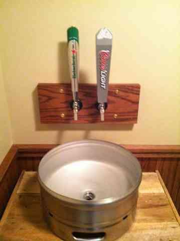 Beer Keg Sink Micro Pub Nanobrewery Man Cave Cellar Beer Keg