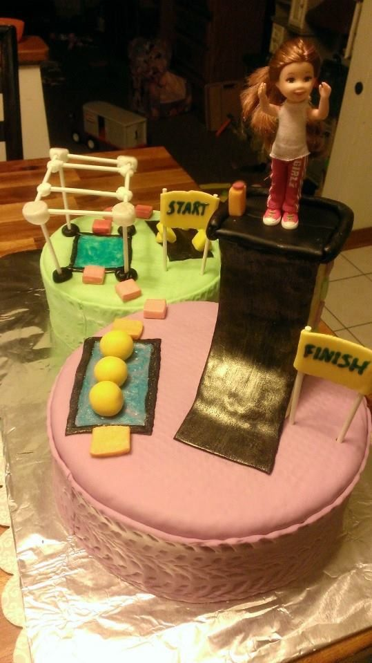 American Ninja Warrior Obstacle Course Cake I Made For Girl Birthday