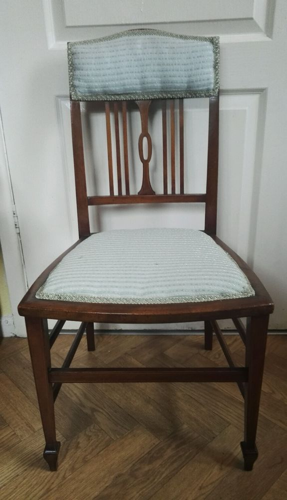 Small Antique Edwardian Mahogany Bedroom Chair Childs Hall
