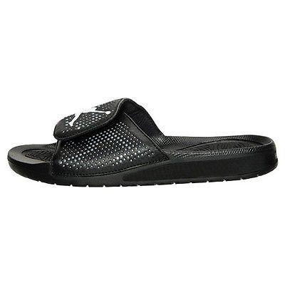 9f0980cb3123 Nike Jordan Hydro 5 Gs Big Kids 820258-010 Black Grey Slide Sandals Youth  Size 7