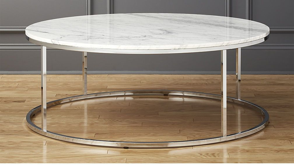 Smart Large Round Marble Top Coffee Table Cb2 900 Height 17 25