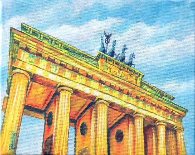 Jannys Art Brandenburger Tor Acrylmalerei Acrylbilder Malerei Acrylmalerei