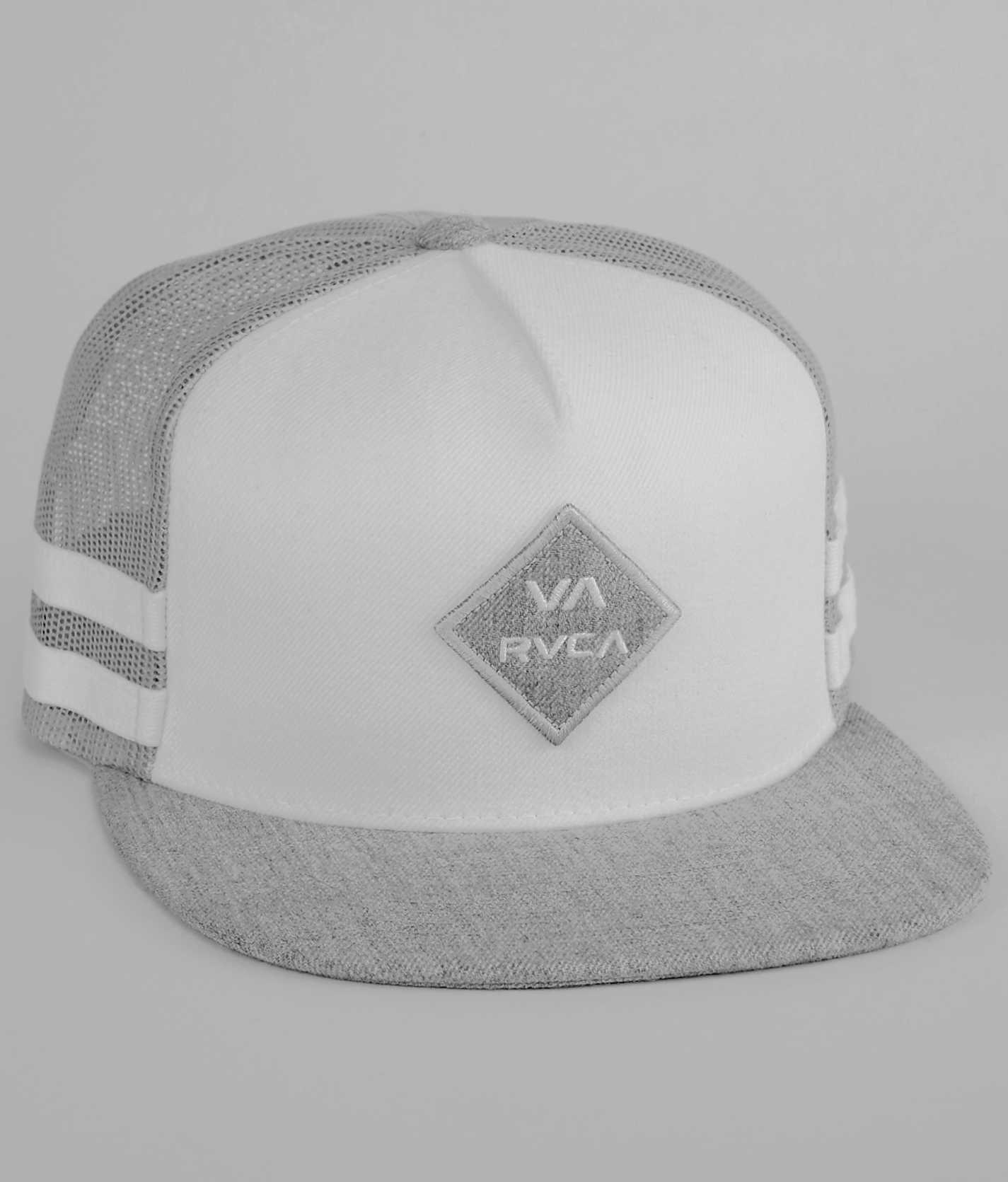 pretty nice 527c1 b63d5 ... closeout rvca stripes trucker hat mens hats in white 0921e 0cc83