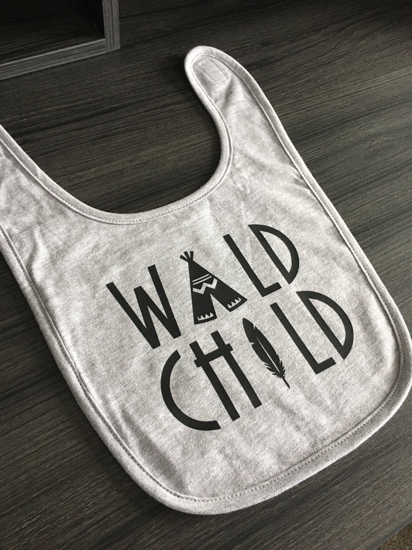 Baby Bibs Wild Child Baby Tribal Baby Clothes Baby Bibs Boy