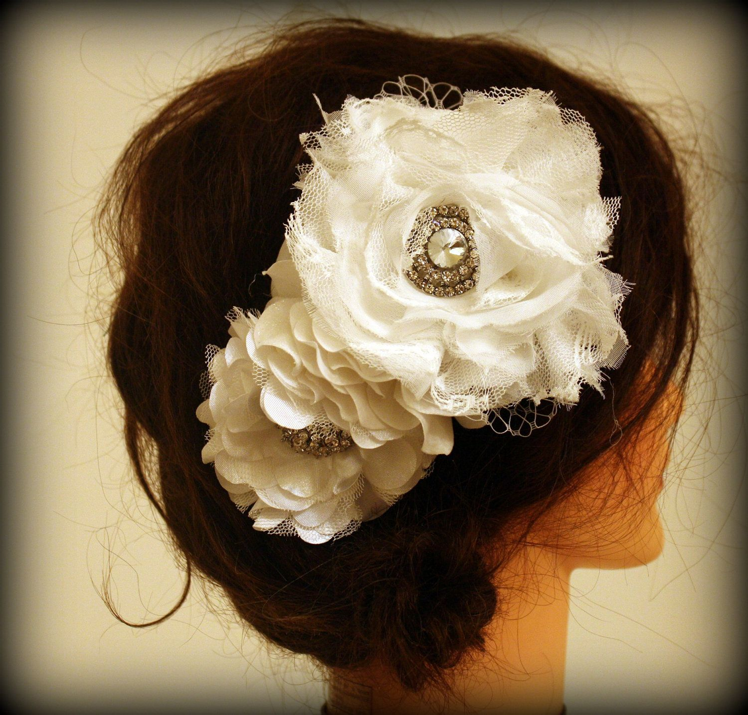 "Vintage lace Custom Made Facinator ""Avory"" Wedding Hair"