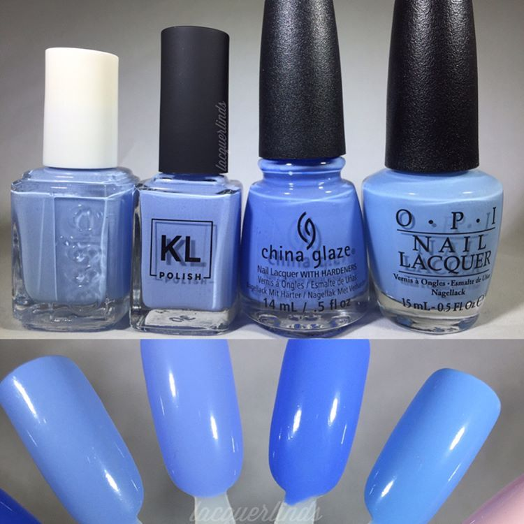 """134 Likes, 8 Comments - Lindsay  (@lacquerlinds) on Instagram: """"Comparisons for @klpolish 'St. Clair' First grouping: @essiepolish 'Bikini So Teeny' which is the…"""""""