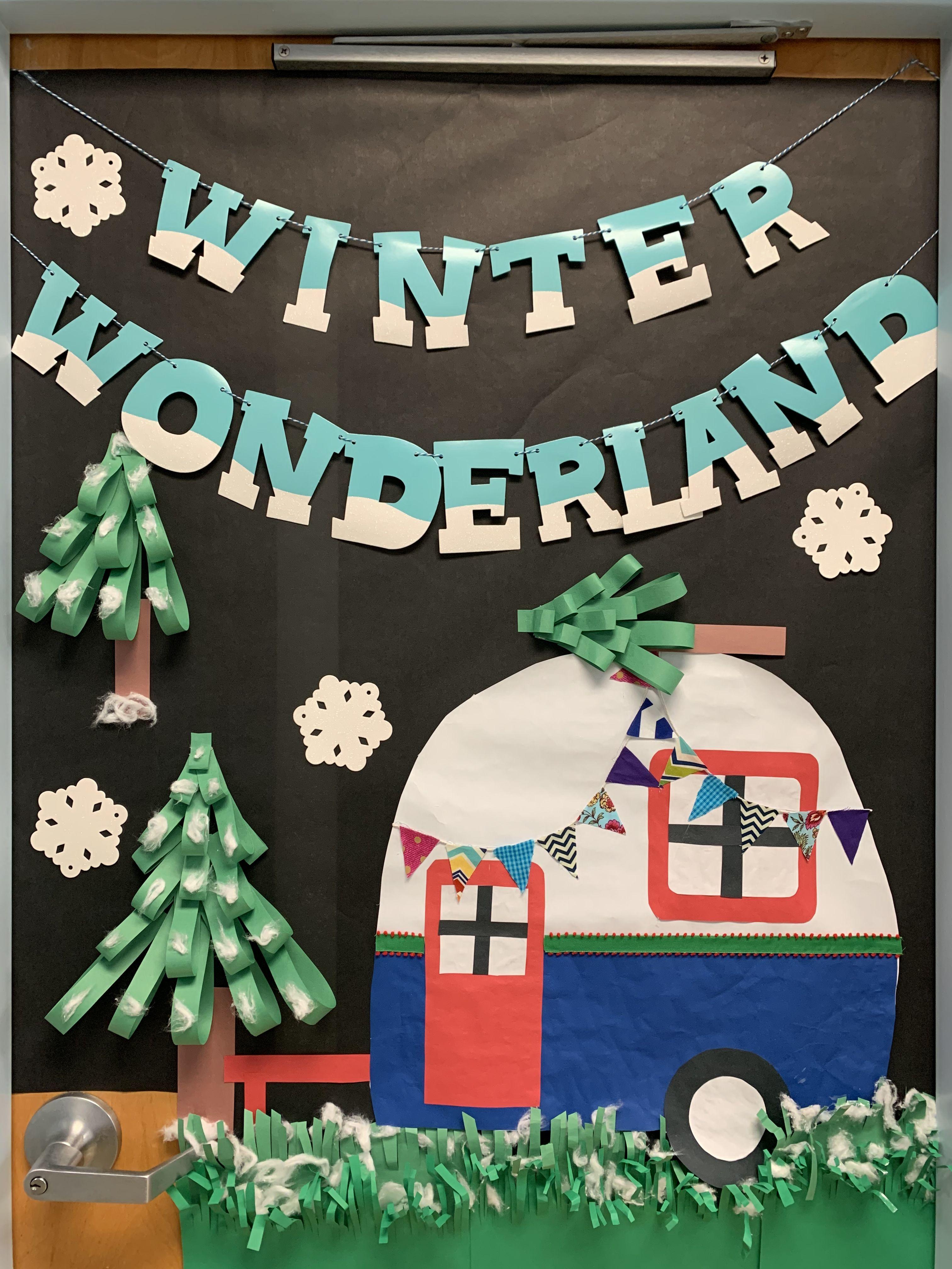 Happy Campers! Our preschool door.
