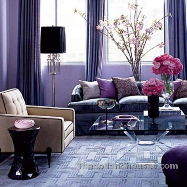 Black And Purple Living Room Decor | #2Deck The Walls&All ...