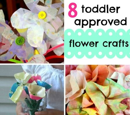8 Super Simple Flower Crafts For Toddlers