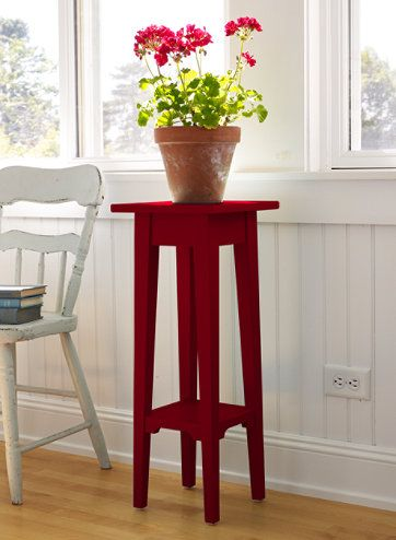 Bedside table camp main room? Painted Cottage Plant Stand, 28 ...