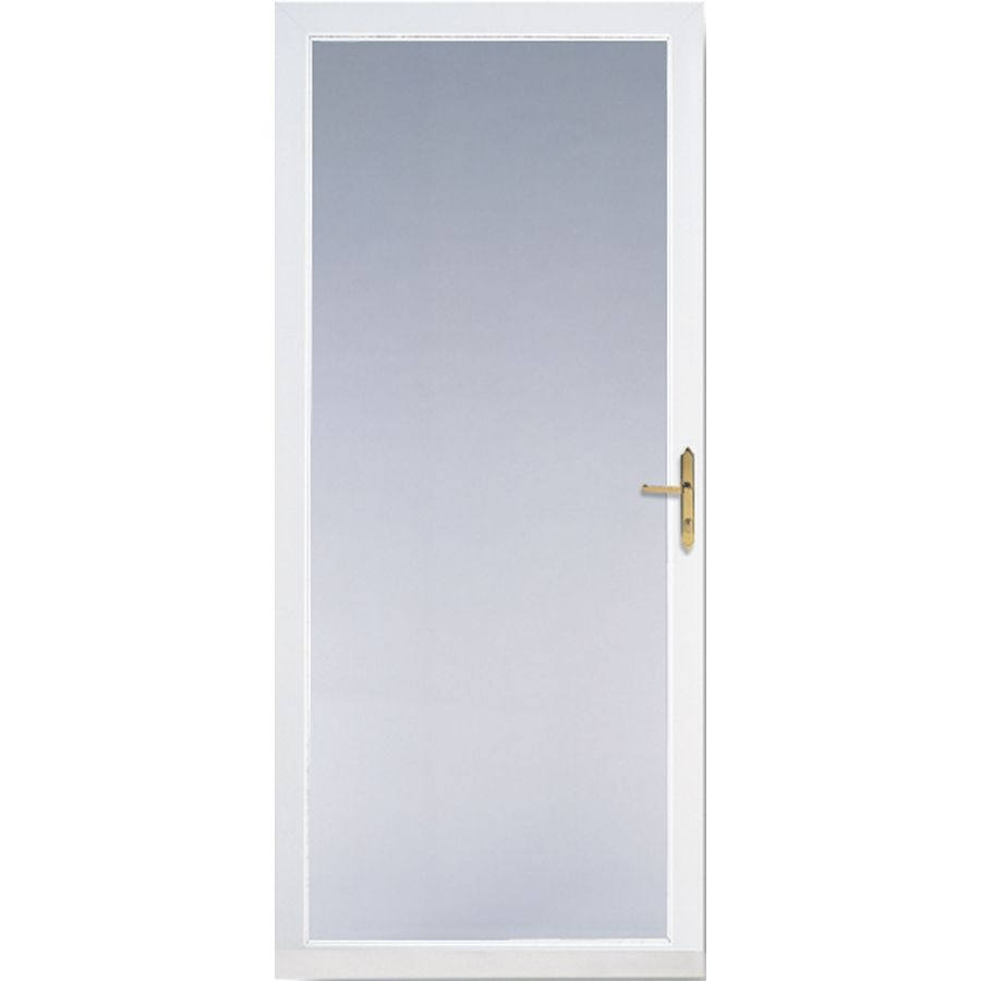 Shop Larson Williamsburg White Full View Tempered Aluminum Glass And Interchangeable Screen Storm Door Commo Aluminum Storm Doors Storm Door Glass Storm Doors