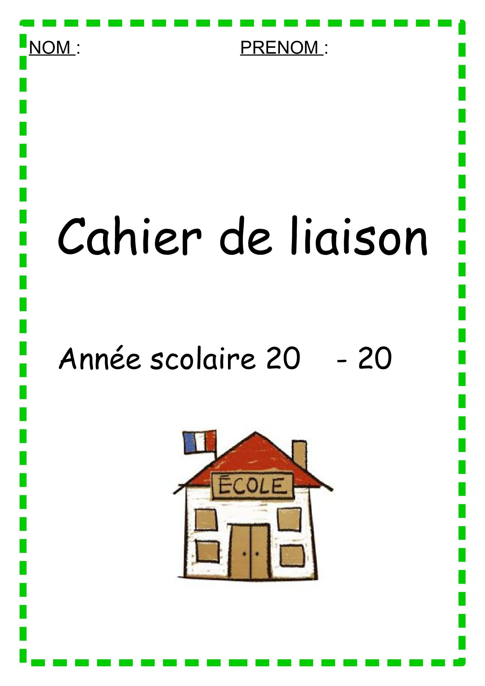page de garde cahier de liaison ecole pinterest cahier de liaison page de garde et cahier. Black Bedroom Furniture Sets. Home Design Ideas